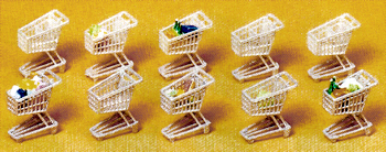 HO-SCALE SHOPPING CARTS