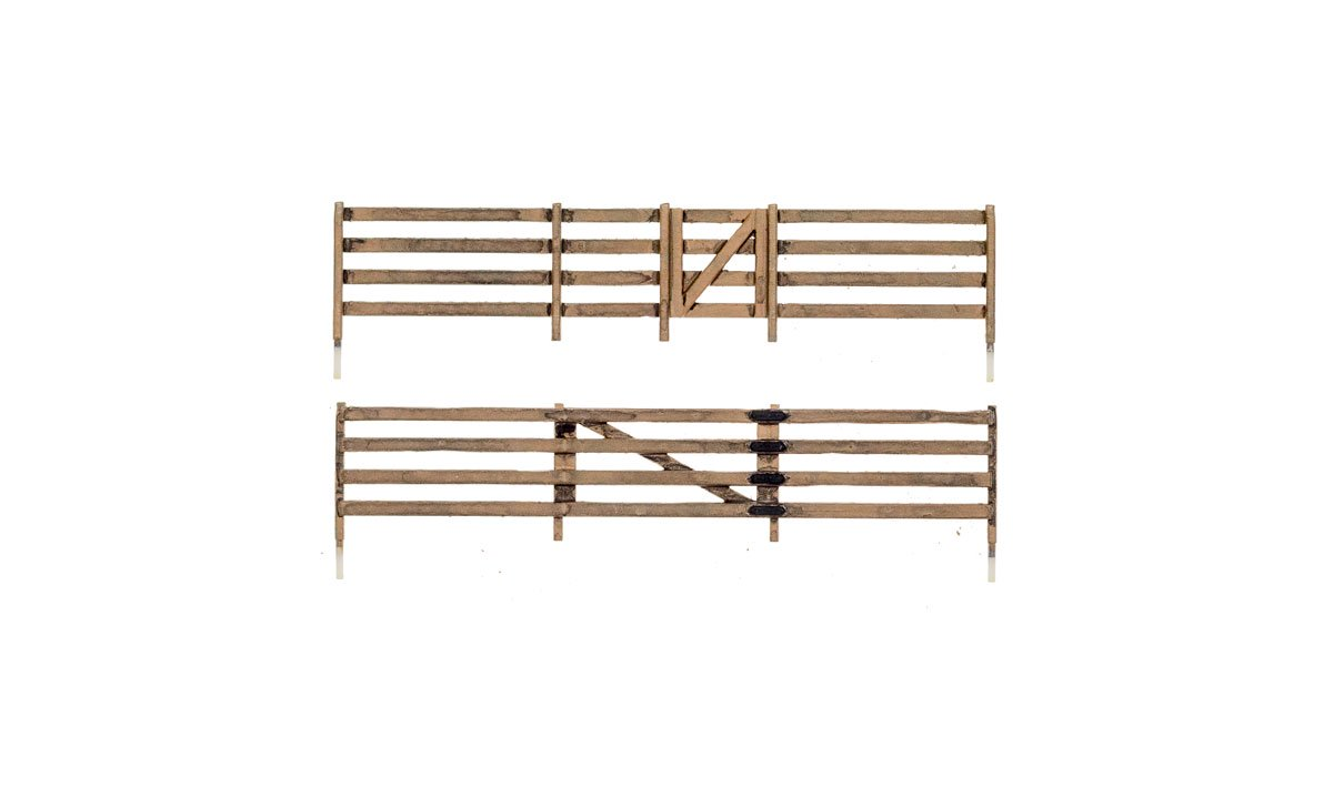 HO-SCALE RAIL FENCE
