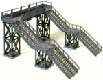 HO-SCALE PEDESTRIAN CROSSOVER BRIDGE