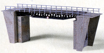 HO-SCALE WARREN TRUSS SINGLE BRIDGE & ABUTMENT KIT