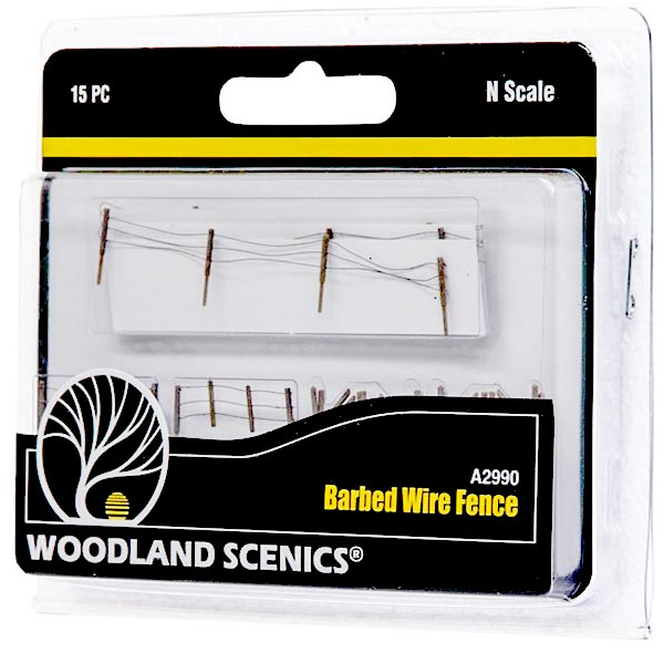 N-SCALE BARBED WIRE FENCE