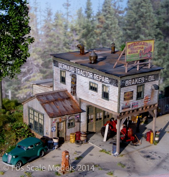 Ho Scale Bernard Tractor Supply Scenic Express