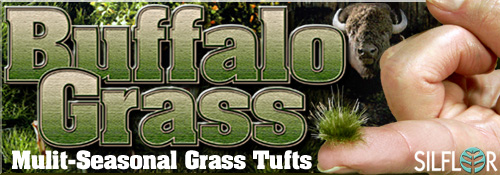 NEW Muli-Seasonal Buffalo Grass Tufts