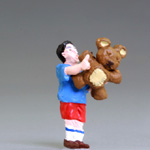 O-SCALE CARNIVAL BOY TEDDY BEAR WINNER