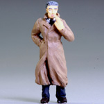 O-SCALE SMOKING TRENCH COAT MAN