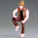 O-SCALE HILLBILLY DANCING THE JIG - 'MR. MCFLEA'