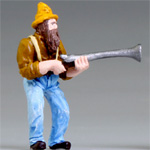 O-SCALE HILLBILLY WEDDING PAPPY WITH SHOTGUN