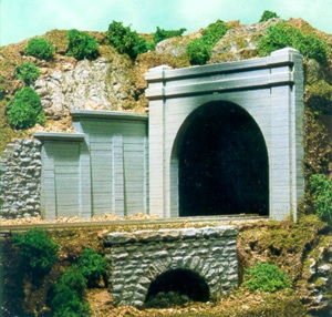 Double concrete portal n scale 1 160 scenic express for N scale tunnel portal dimensions