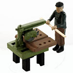 O-SCALE CRAFTSMAN CUTTING WITH RADIAL SAW