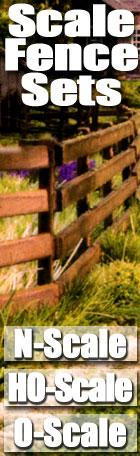 Scale Fence Sets N HO & O-Scale
