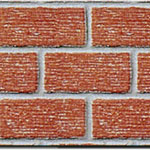 O-SCALE INDUSTRIAL RED BRICK W/MORTAR 15½