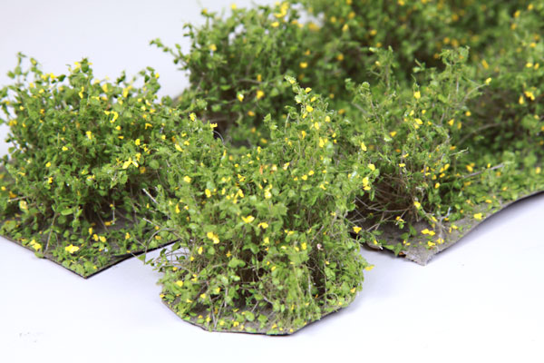 2CM LOW LIGHT GREEN BUSHES / 10 PCS.