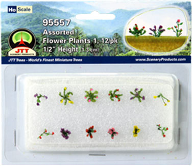 HO-SCALE FLOWERING SET #1/12 PK