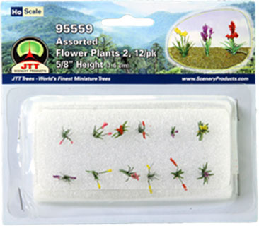 HO-SCALE ASSORTED FLOWERING SET #2 / 12PK