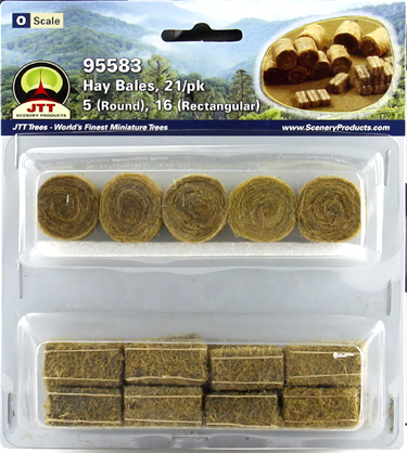 O-SCALE HAY BALES/21 ASSORTED