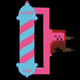 BARBER SHOP LARGE - LEFT