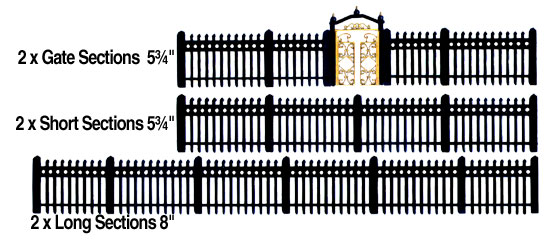 Ho Scale Small Wrought Iron Fence Scenic Express