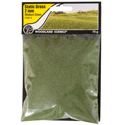 2mm MEDIUM GREEN STATIC GRASS