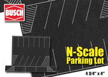 N Scale Parking Lot Scenic Express