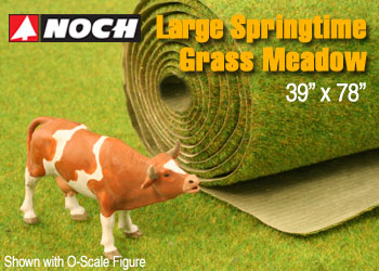 LARGE SPRINGTIME GRASS MEADOW MAT