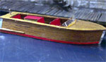 HO-SCALE 21' MAHOGANY RUNABOUT
