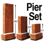 HO RED STONE PIERS (3-SIZE SET)