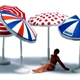 HO-SCALE BEACH UMBRELLA SET