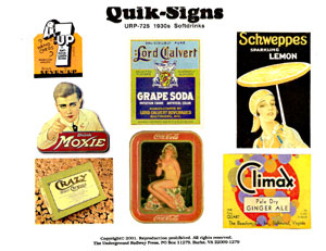 1930s SOFT DRINK (DECALS)
