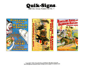 CIRCUS POSTER (DECALS) - SET NO. 1