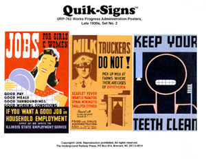 1930 WORKS PROGRESS ADMINISTRATION POSTERS #2