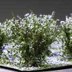 2CM LOW LAVENDER BUSHES / 10 PCS.