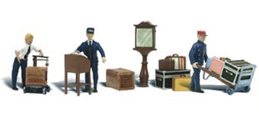 O-SCALE DEPOT WORKERS & ACCESSORIES