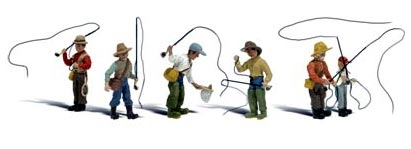 HO-SCALE FLY FISHERMEN