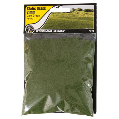 2mm DARK GREEN STATIC GRASS