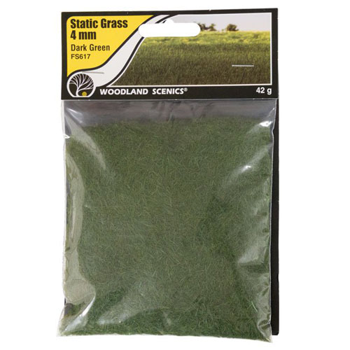 4mm DARK GREEN STATIC GRASS