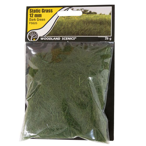 12mm DARK GREEN STATIC GRASS