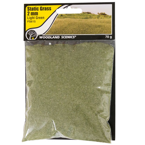2mm LIGHT GREEN STATIC GRASS