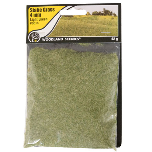 4mm LIGHT GREEN STATIC GRASS