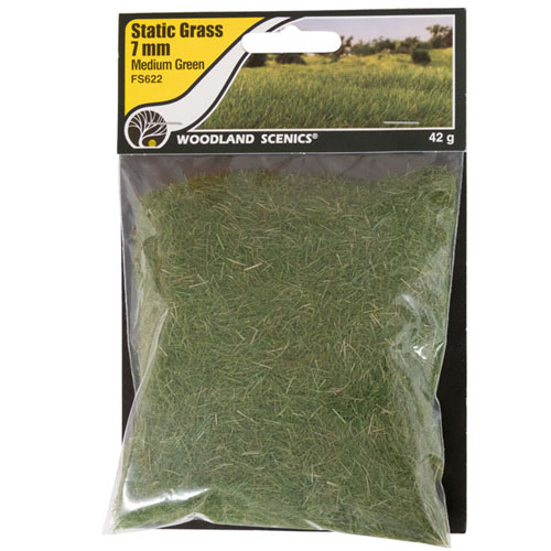 7mm MEDIUM GREEN STATIC GRASS