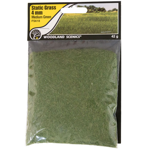 4mm MEDIUM GREEN STATIC GRASS
