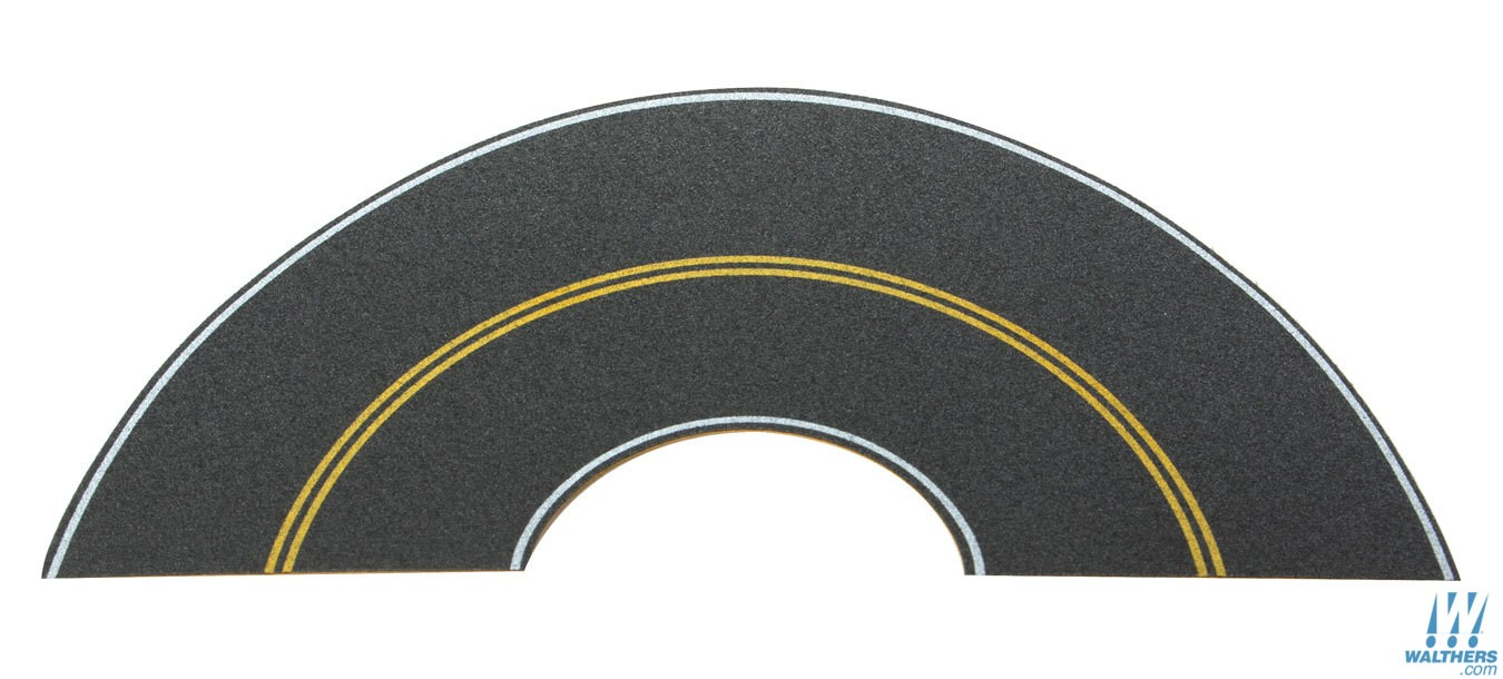 HO-Scale Solid Yellow Curve/White Edge