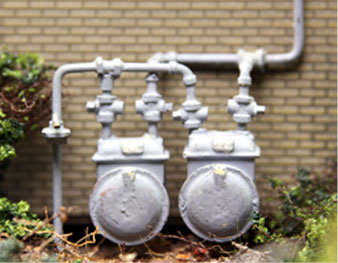 DUAL COMMERCIAL GAS METERS