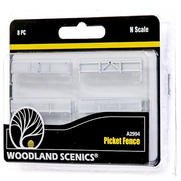 N-SCALE PICKET FENCE