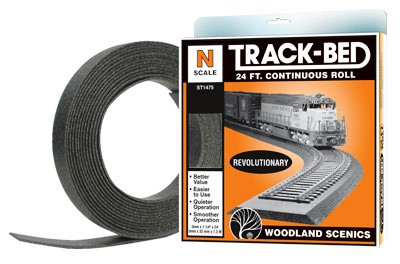 N-SCALE ROLL ROADBED - 24 FEET